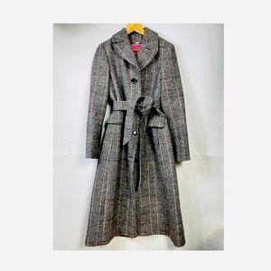 Kate spade glen plaid belted a-line coat